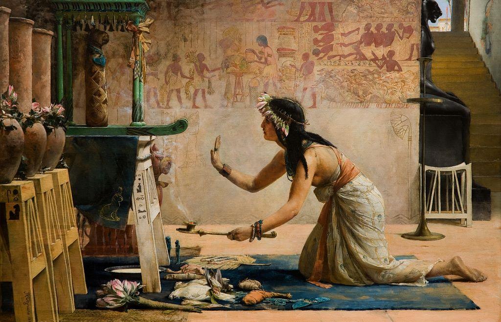 john_reinhard_weguelin_-_the_obsequies_of_an_egyptian_cat_1886